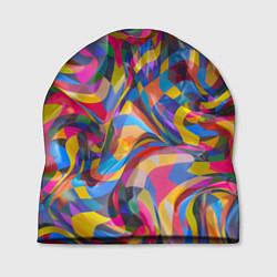 Шапка Абстракционизм цвета 3D — фото 1