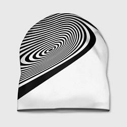 Шапка Black & White Illusion цвета 3D — фото 1