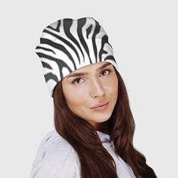 Шапка Африканская зебра цвета 3D-принт — фото 2