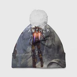 Шапка с помпоном ANTHEM цвета 3D-белый — фото 1