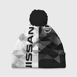 Шапка с помпоном NISSAN цвета 3D-черный — фото 1