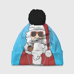 Шапка с помпоном Дед мороз цвета 3D-черный — фото 1