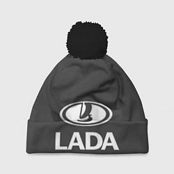 Шапка с помпоном Lada цвета 3D-черный — фото 1