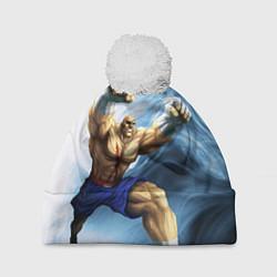 Шапка с помпоном Muay Thai Rage цвета 3D-белый — фото 1