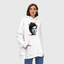 Толстовка-худи оверсайз Harry Styles цвета белый — фото 2