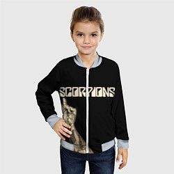 Бомбер детский Scorpions Rock цвета 3D-серый — фото 2