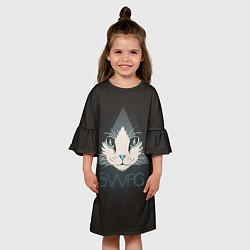 Платье клеш для девочки Cat цвета 3D — фото 2