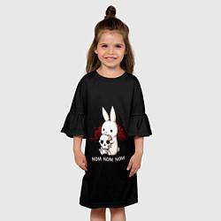 Платье клеш для девочки Череп цвета 3D — фото 2