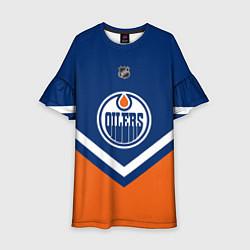 Платье клеш для девочки NHL: Edmonton Oilers цвета 3D — фото 1