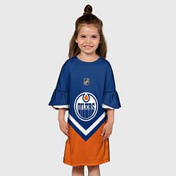 Платье клеш для девочки NHL: Edmonton Oilers цвета 3D-принт — фото 2