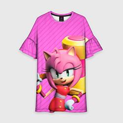 Платье клеш для девочки Amy Rose цвета 3D — фото 1