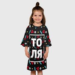 Платье клеш для девочки Толя цвета 3D — фото 2