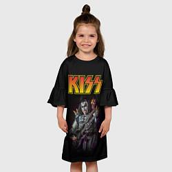 Платье клеш для девочки KISS: Gene Simmons цвета 3D — фото 2