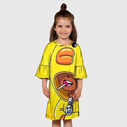 Платье клеш для девочки BRAWL STARS SALLY LEON цвета 3D — фото 2