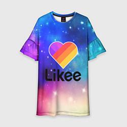 Платье клеш для девочки LIKEE:ПРИЛОЖЕНИЕ цвета 3D — фото 1