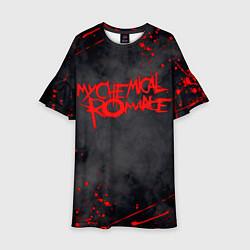 Платье клеш для девочки My Chemical Romance цвета 3D — фото 1