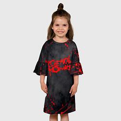 Платье клеш для девочки My Chemical Romance цвета 3D-принт — фото 2