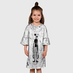 Платье клеш для девочки Сиреноголовый цвета 3D — фото 2