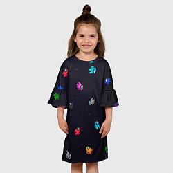 Платье клеш для девочки Among Us цвета 3D-принт — фото 2