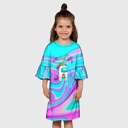 Платье клеш для девочки Impostor Unicorn цвета 3D — фото 2