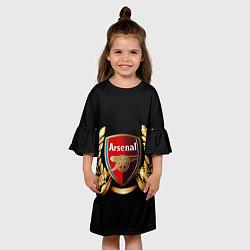 Платье клеш для девочки Arsenal цвета 3D — фото 2