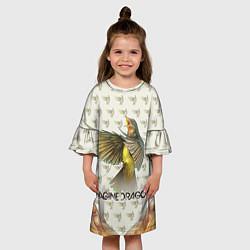 Платье клеш для девочки Imagine Dragons: Fly цвета 3D-принт — фото 2