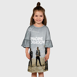 Платье клеш для девочки Imagine Dragons: Boys цвета 3D-принт — фото 2