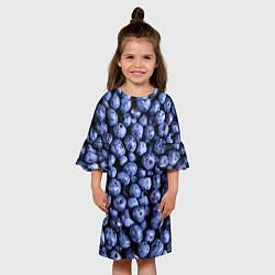 Платье клеш для девочки Черника цвета 3D — фото 2