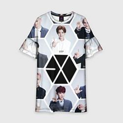 Платье клеш для девочки EXO Boys цвета 3D — фото 1