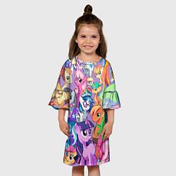 Платье клеш для девочки My Little Pony цвета 3D-принт — фото 2