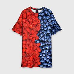 Платье клеш для девочки Ягодка цвета 3D — фото 1