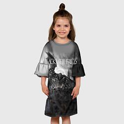 Платье клеш для девочки Black Veil Brides: Faithless цвета 3D — фото 2