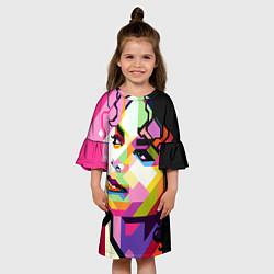Платье клеш для девочки Michael Jackson Art цвета 3D — фото 2