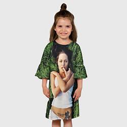 Платье клеш для девочки Анджелина Джоли цвета 3D — фото 2
