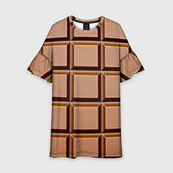 Платье клеш для девочки Шоколад цвета 3D — фото 1