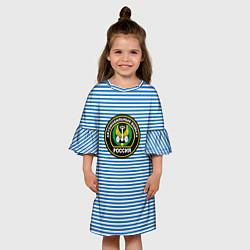 Платье клеш для девочки Тельняшка АВ РФ цвета 3D — фото 2