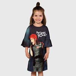 Платье клеш для девочки Gerard Way цвета 3D — фото 2