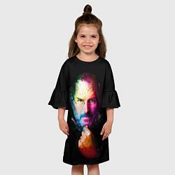 Платье клеш для девочки Стив Джобс цвета 3D — фото 2