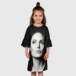Платье клеш для девочки Mono Jolie цвета 3D — фото 2