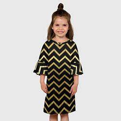 Платье клеш для девочки Узор цвета 3D — фото 2