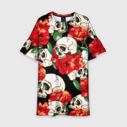 Детское платье Черепки и розы