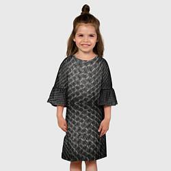 Платье клеш для девочки Черная кожа цвета 3D — фото 2