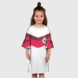 Платье клеш для девочки Сборная Германии по футболу цвета 3D — фото 2