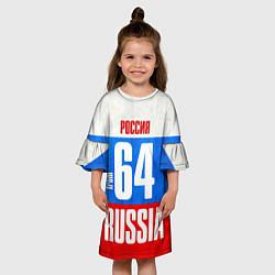Платье клеш для девочки Russia: from 64 цвета 3D — фото 2