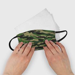 Маска для лица детская Камуфляж: хаки/зеленый цвета 3D — фото 2