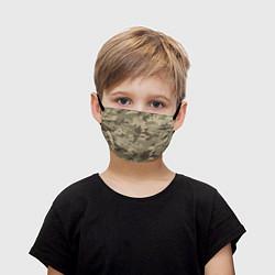 Маска для лица детская Камуфляж: хаки цвета 3D — фото 1