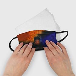 Маска для лица детская Виктор Цой в ночи цвета 3D — фото 2