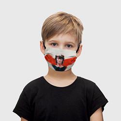 Маска для лица детская Молодой Цой цвета 3D — фото 1