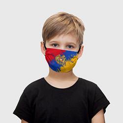 Маска для лица детская Герб и флаг Армении цвета 3D — фото 1