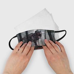 Маска для лица детская Hell Dino цвета 3D-принт — фото 2